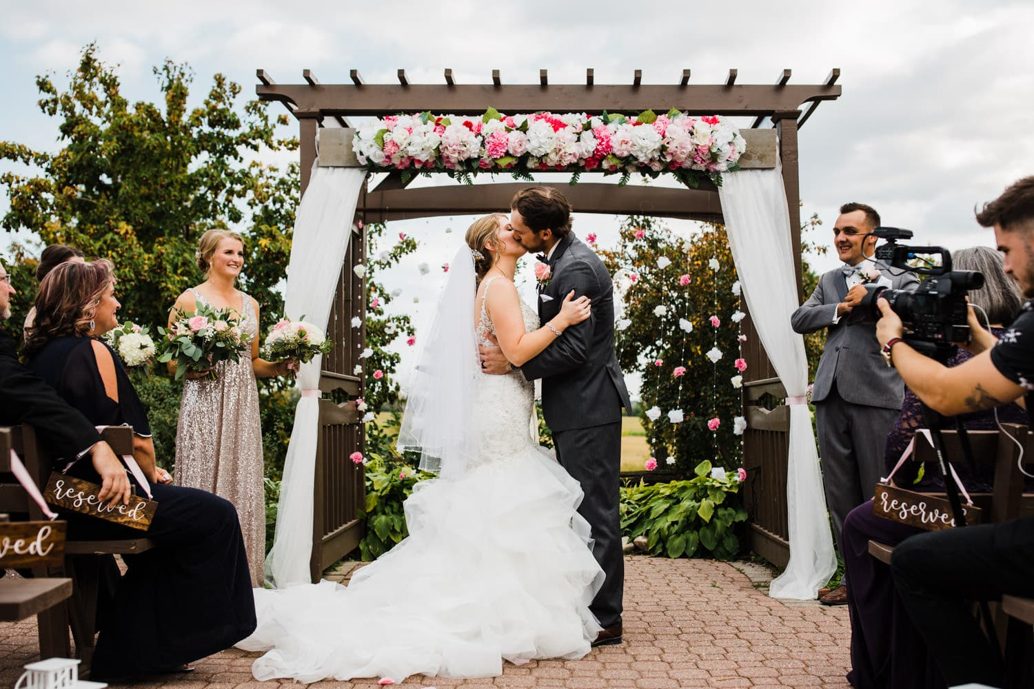 first kiss at the lodge - strathmere summer wedding
