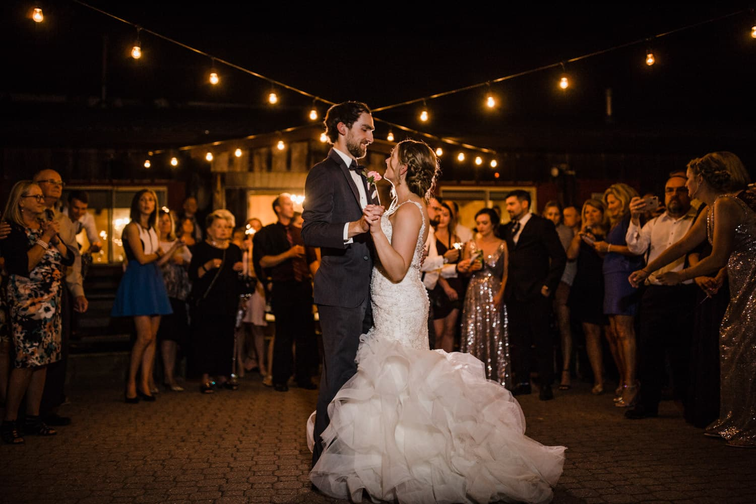 bride and grom first dance - strathmere summer wedding