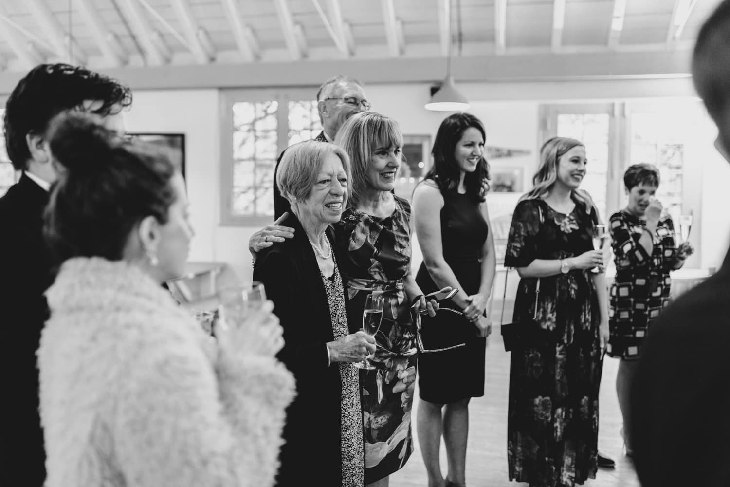 Guests watch intimate wedding ceremony - The Cameron Ottawa