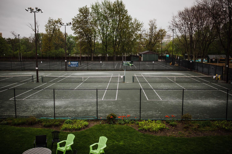 rainy day at ottawa tennis and lawn bowling club
