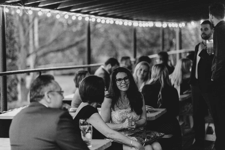 guests mingle outside at The Cameron - Ottawa wedding