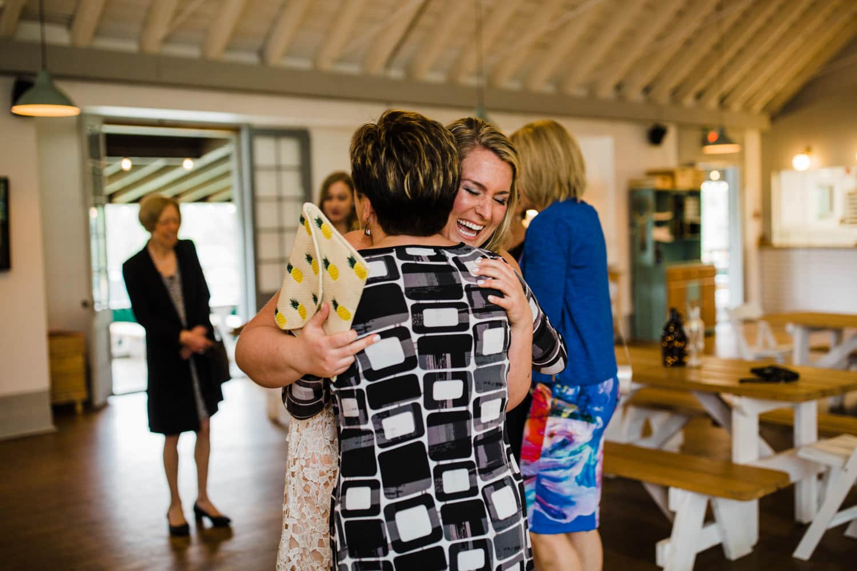 bride greets guests - small ottawa wedding