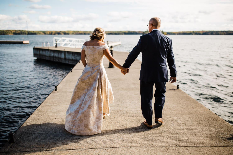 Fall wedding at The Ivy Lea Club - Thousand Islands Wedding