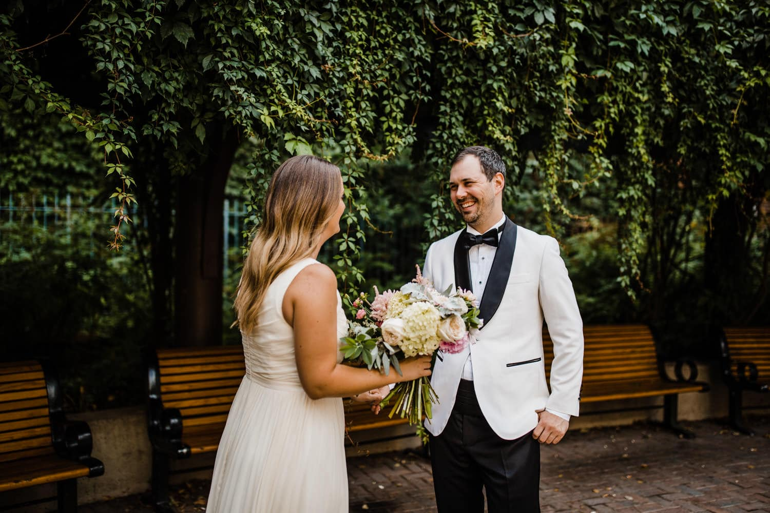 first look - summer wedding at The Sussex Contemporary