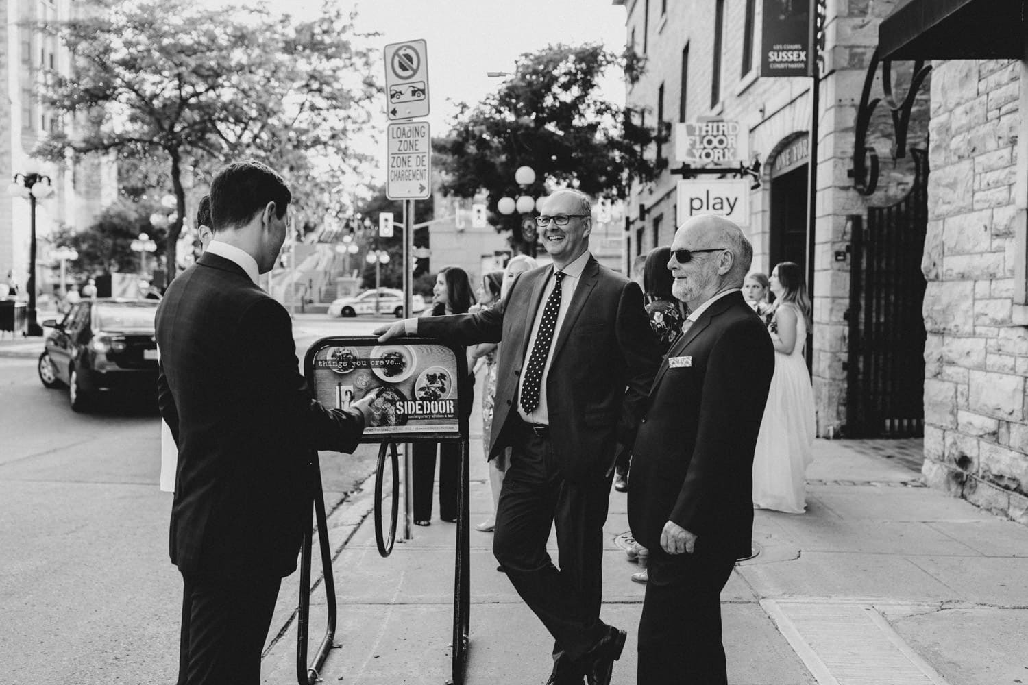 guests hang out in byward market - small ottawa wedding