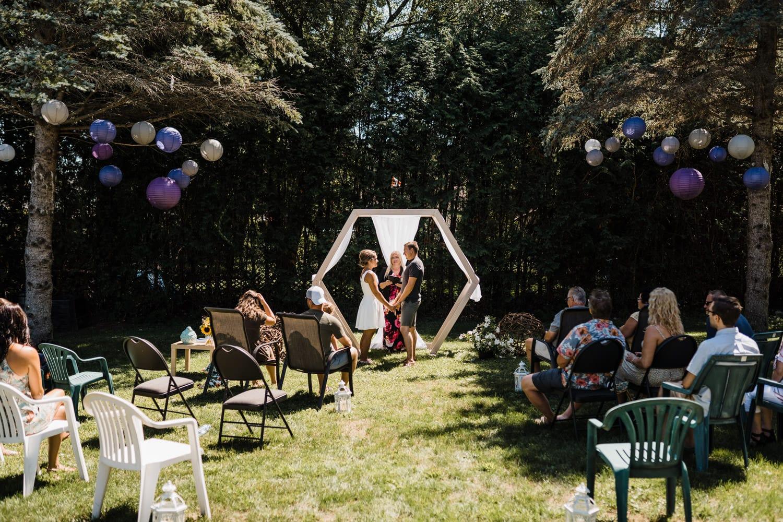 small backyard wedding setup