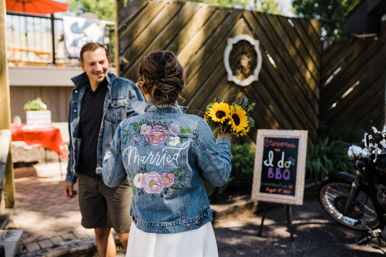 just married jean jacket
