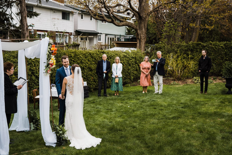 an intimate backyard wedding ceremony - small backyard wedding ottawa