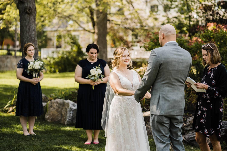 intimate outdoor wedding ceremony - stewart park perth