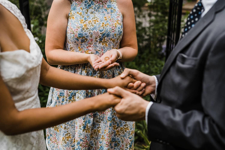 couple prepares to exchange rings
