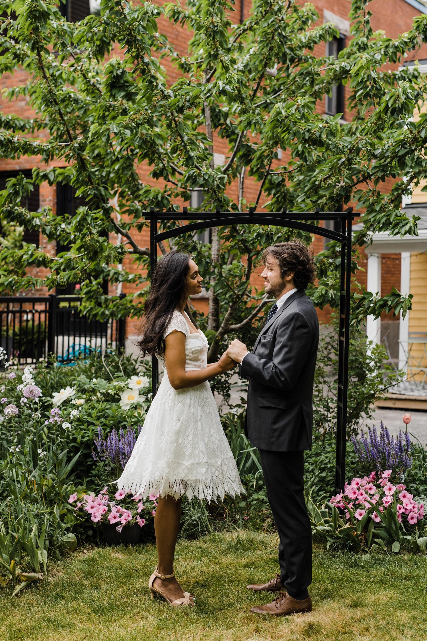 small backyard wedding ceremony - ottawa elopement