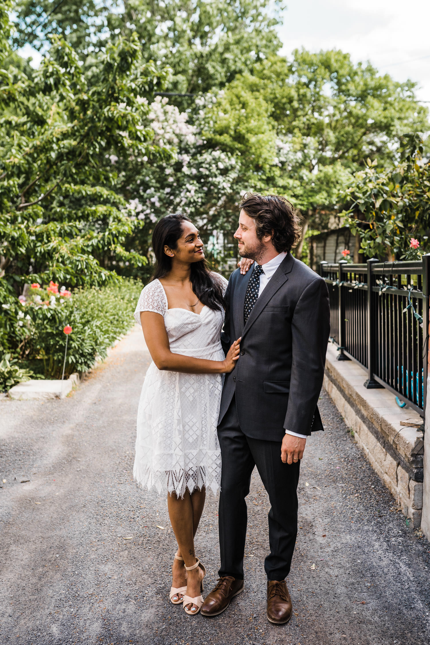 couple celebrate backyard ceremony in ottawa